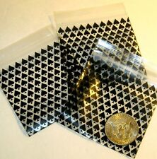 100 Black Spades Apple Baggies 3 X 3 Mini Zip Bags Reclosable Plastic