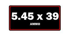 5.45x39 ammo label can vinyl sticker decal bumper rifle gun glock bullet ar15