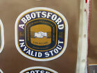 VINTAGE AUS BEER LABEL. CARLTON & UNITED - ABBOTSFORD INVALID STOUT 375ML 36IS