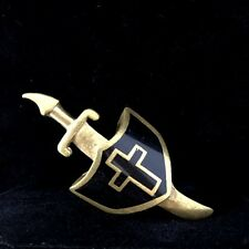 RING KNIGHT Shield Sword ARMOR of GOD Vintage Brass Biker Men's Women's US7