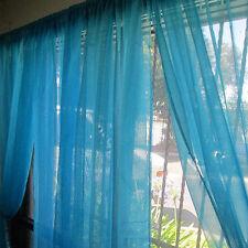"2Pcs Curtains Sheer Window Treatment Panel Drape Doris 55"" X 84"" Goplus 15 Color"