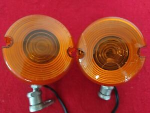 GENUINE 2003 HARLEY OEM SPORTSTER 883 FRONT TURN SIGNALS SOFTAIL DYNA BREAKOUT