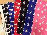 Cushions Copenhagen Print Factory Fabric FQ or More Navy Blue 100/% Cotton Craft