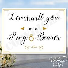 Will you be my Page boy Ring Bearer Best Man Flower Girl Bridesmaid Witness card