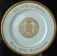 CITY OF CORAL GABLES 65th Anniv Commemorative Plate