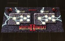 Mortal Kombat 2 Arcade Control Panel Overlay with Run MK2 MK3 3 CPO Mame Midway