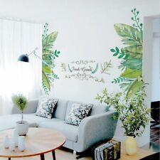 Green Garden Plant Background Wall Art Sticker Home Mural Decal Room Door Decors