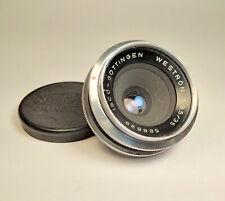 Chrome ISCO-Göttingen Westron 35mm f/3.5 Wide Angle Pancake Lens M39 / B39 Fit