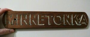 SS 'MINNETONKA' Vintage, Shabby Chic, Antique, Sign, Boat, House.