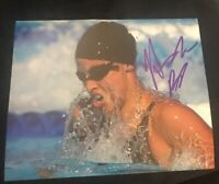 AMANDA BEARD SIGNED 8X10 PHOTO SWIMMING USA PHELPS OLYMPICS D W/COA+PROOF WOW