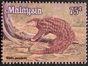 Stamp Malaysia SG193 1979 75c Sunda Pangolin Used