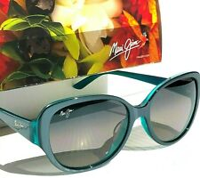 NEW* Maui Jim SWEPT AWAY Aqua Blue POLARIZED Grey Women's Sunglass GS733-06