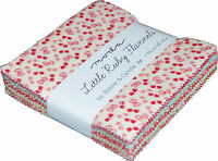 "Little Ruby Flannels Moda Charm Pack 42 100% Cotton 5"" Fabric Quilt Squares"