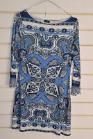 Bruno Banani Womens Dress - Patterned - Blue - Size 10 (RefD1)
