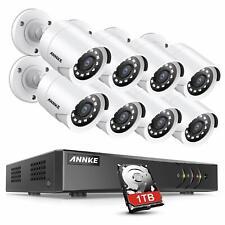 ANNKE 8CH système de sécurité 1080P TVI H.265+ DVR avec HDD 1TB,8 Caméras 2 MP