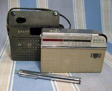 1959 SONY TR-714 TRANSISTOR SHORTWAVE RADIO ~ Historic 1st Pocket Multiband Set