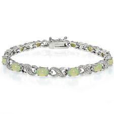 3ct Erstellt Grün Opal & Diamant Akzent Infinity Armband