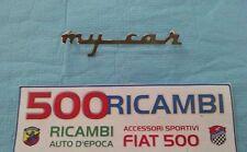 FIAT 500 F/L/R EPOCA LOGO SCRITTA IN METALLO CROMATO MYCAR FRANCIS LOMBARDI