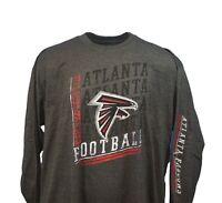 Atlanta Falcons NFL Majestic Grey Long Sleeve T-Shirt Men's Big & Tall