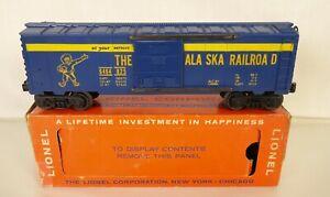 LIONEL POSTWAR #6464-825 SUPER CLEAN ALASKA RAILROAD BOX CAR-LN IN ORIG. BOX!