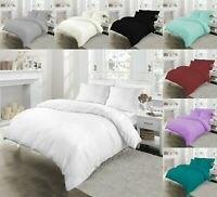 100% EGYPTIAN COTTON 200TC DUVET QUILT BEDDING SET SINGLE DOUBLE SUPER KING SIZE