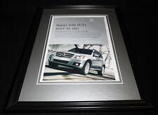 2009 Mercedes Benz GLK Framed 11x14 ORIGINAL Advertisement