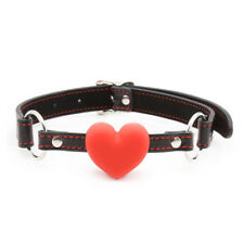 Soft Heart Shaped Silicone Ball Gag Mouth Fixation Stuffer Restraint Harness Toy