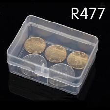 5pcs Boîte de rangement transparent en plastique transparent Boîte à conteneurs