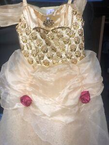disney castle collection Belle Dress size 7/8 girls