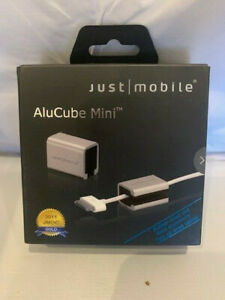 JUST MOBILE ALUCUBE MINI - CABLE TIDY - NEW IN BOX - GREAT STOCKING STUFFER