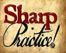 SHARP PRACTICE + CARDS - TOO FAT LARDIES - RULES - RULEBOOK - SENT FIRST CLASS