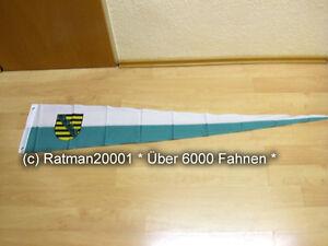 Fahne Flagge Sachsen Wimpel - 30 x 150 cm