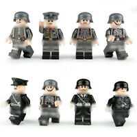 8pcs/set DE Militär Soldaten Bausteine Blocks WW2 Armee Figuren Spielzeug Bricks
