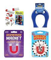 "Horseshoe Magnet Set - 2"" 4"" or SUPER - Large Classic Fun Learning Toy Education"