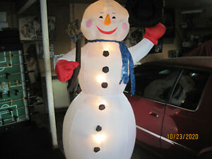 8 ft Light Up Inflatable Snowman Airblown Christmas Lawn Decoration