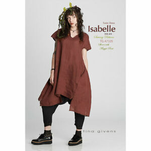 """TINA GIVENS """"ISABELLE TUNIC DRESS A7105"""" Sewing Pattern"""