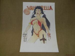 Vampirella Poster by an Unknown Artist Unfinished Coloring