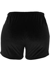 Black Velvet Velour Boyshorts Boy Shorts Size 10 Gymnastics Dancewear Clubbing