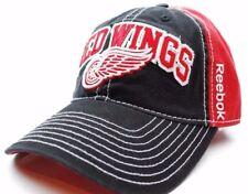 Detroit Red Wings Reebok EV77Z NHL Team Logo Slouch Hockey Cap Dad Hat