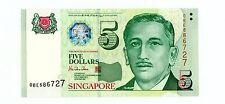 Singapore . P-39 . 5 Dollars . Nd(1999) . Gem*Unc*.
