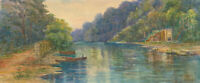 D. Pritchett - Signed Early 20th Century Watercolour, River Landscape