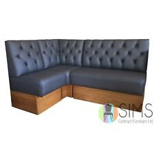 More details for modular deep buttoned banquette fitted bench booth seating - cafe, kitchen, bar