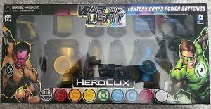 Heroclix DC War Of Light Green Lantern Corps Power Batteries Yellow & Blue Pack