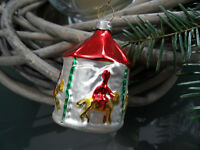 original vintage mouth blown GERMAN Christmas glass ornament mid century
