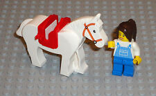 LEGO Minifigure Girl With Horse & Saddle Lot City Town Western Toys Lady Minifig