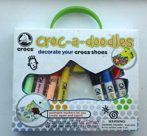 Croc-a-doodles Kit to Decorate Your Crocs Shoes – NIB - Great Stocking Stuffer