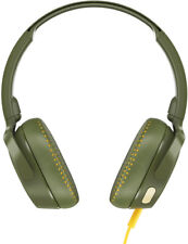 Skullcandy Riff On-Ear w/Tap Tech Headphones in Moss/Olive/Yellow