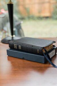 Allan ESV SCT (Single Column Text) Bible Black Goatskin - ESV Reading Bible
