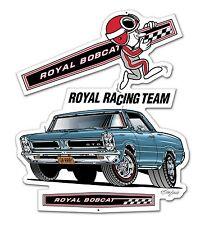 "1965 Pontiac GTO Royal Bobcat Racing Team Sign 21"" x 18"" Hurst Drag Race Gasser"
