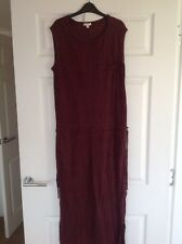 Gap Burgundy Linen Maxi Dress Size 12-14 M